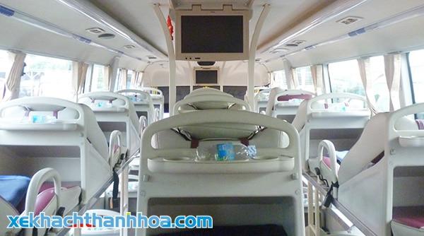 Nội thất bên trong xe Hải Định Thanh Hóa - Quảng Ninh