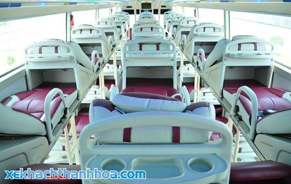 Nội thất xe giường nằm Quảng Mận